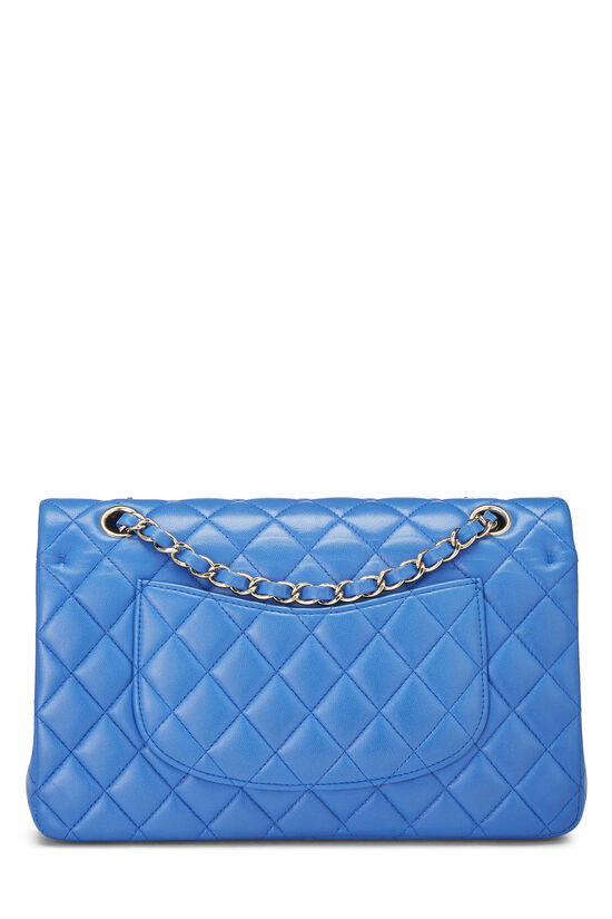 Blue Quilted Lambskin Classic Double Flap Medium, , large image number 3