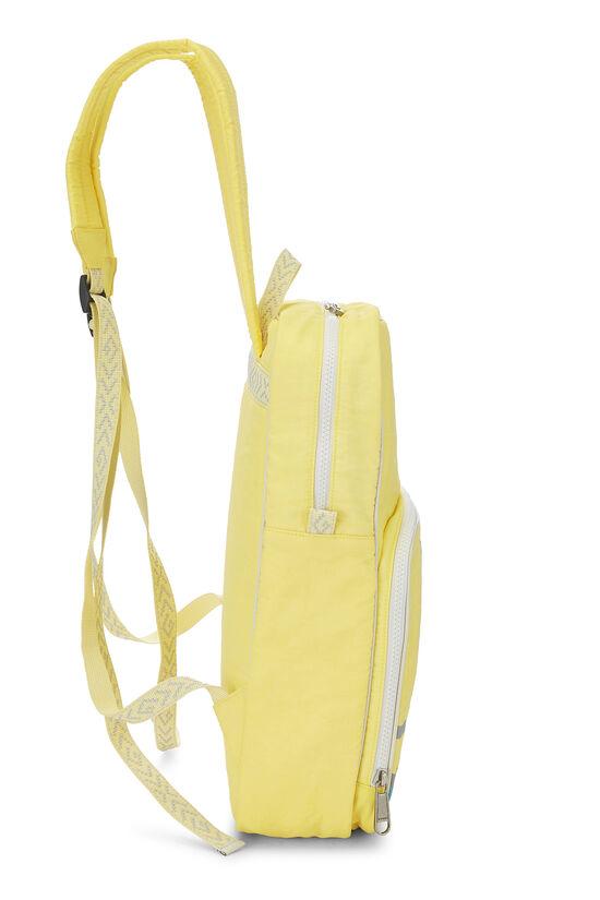 Yellow Nylon GG Backpack, , large image number 2