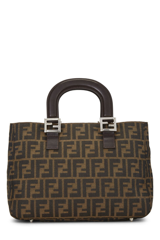 Brown Zucca Canvas Handbag Small, , large image number 3