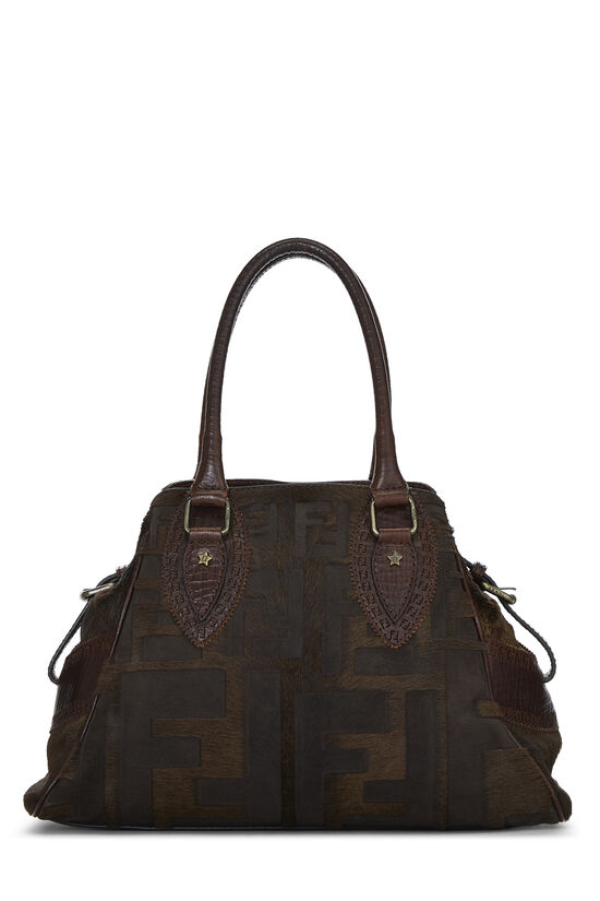 Brown Zucca Pony Hair Bag Du Jour Small, , large image number 3