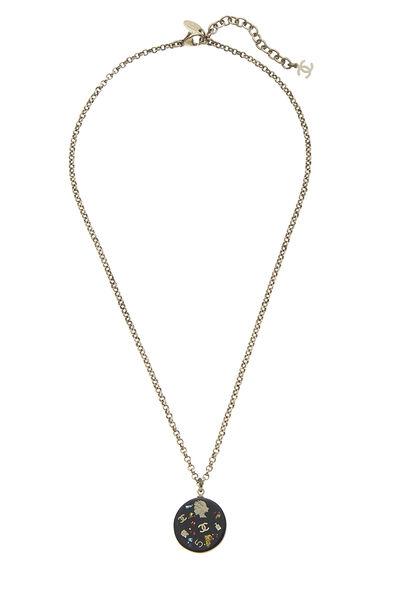 Black Acrylic Lucky Charms Necklace