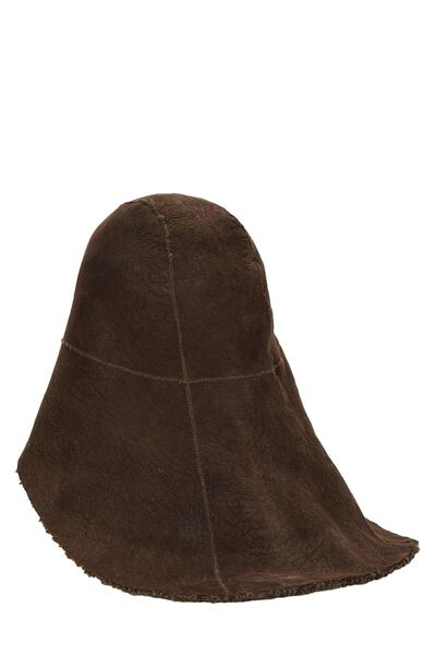 Brown Shearling Hat, , large