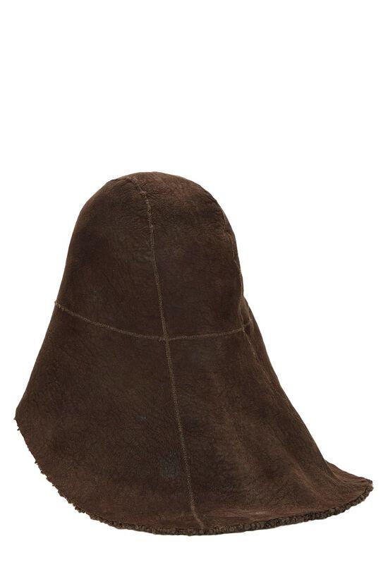 Brown Shearling Hat, , large image number 1