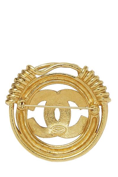 Gold 'CC' Spring Border Pin, , large
