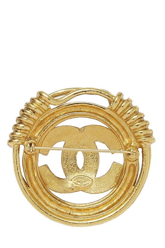 Gold 'CC' Spring Border Pin, , large image number 1