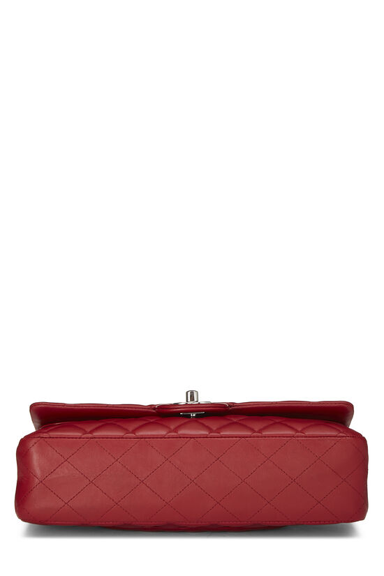 Red Quilted Lambskin Classic Double Flap Small, , large image number 4