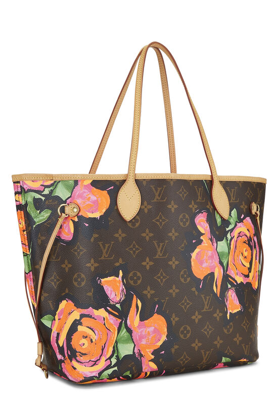 Stephen Sprouse x Louis Vuitton Monogram Canvas Roses Neverfull MM, , large image number 1