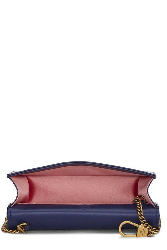 Blue Velvet GG Marmont Wallet on Chain Mini, , large image number 5
