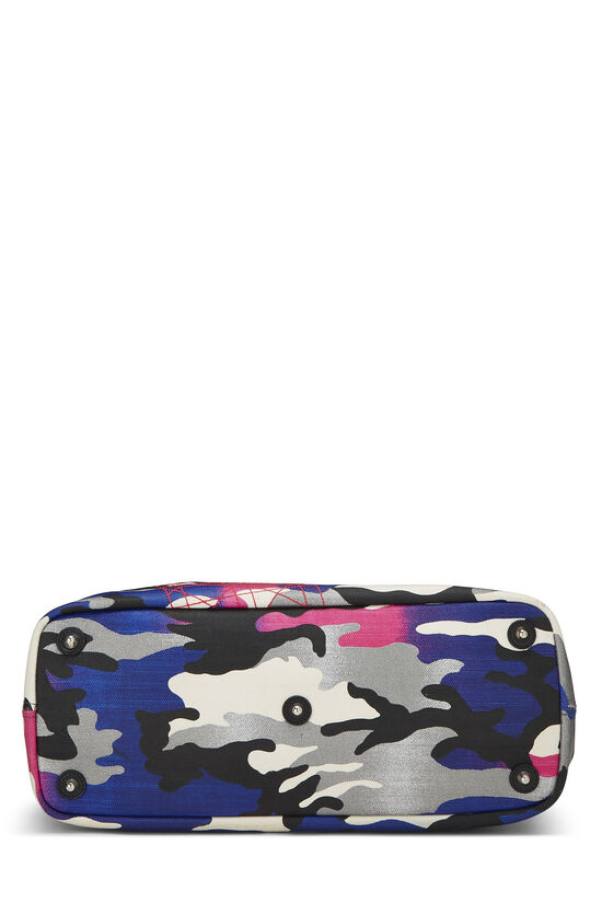 Anselm Reyle x Christian Dior Multicolor Camouflage Coated Canvas Tote, , large image number 4