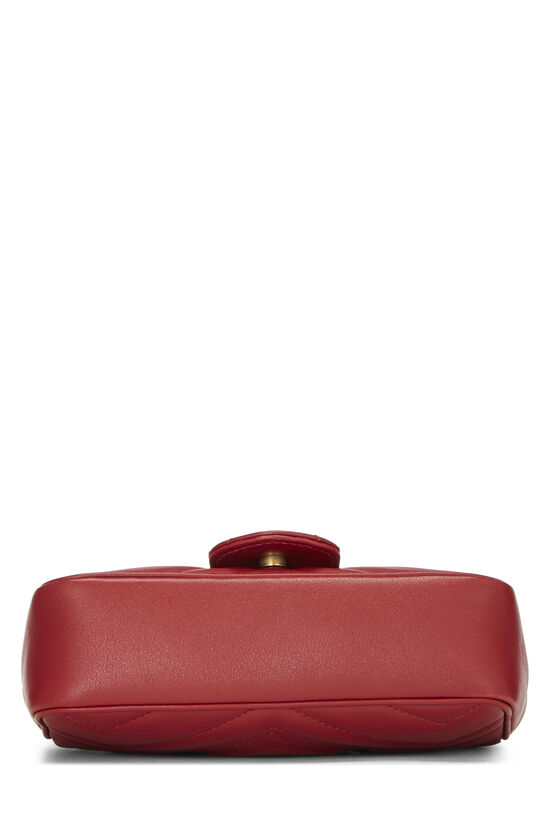 Red Leather Marmont Crossbody Extra Mini, , large image number 5