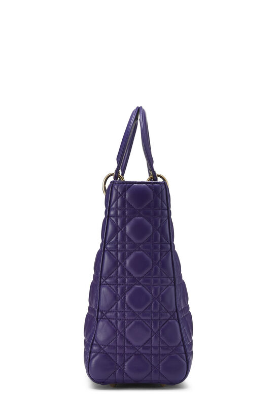Purple Cannage Quilted Lambskin Lady Dior Large, , large image number 3