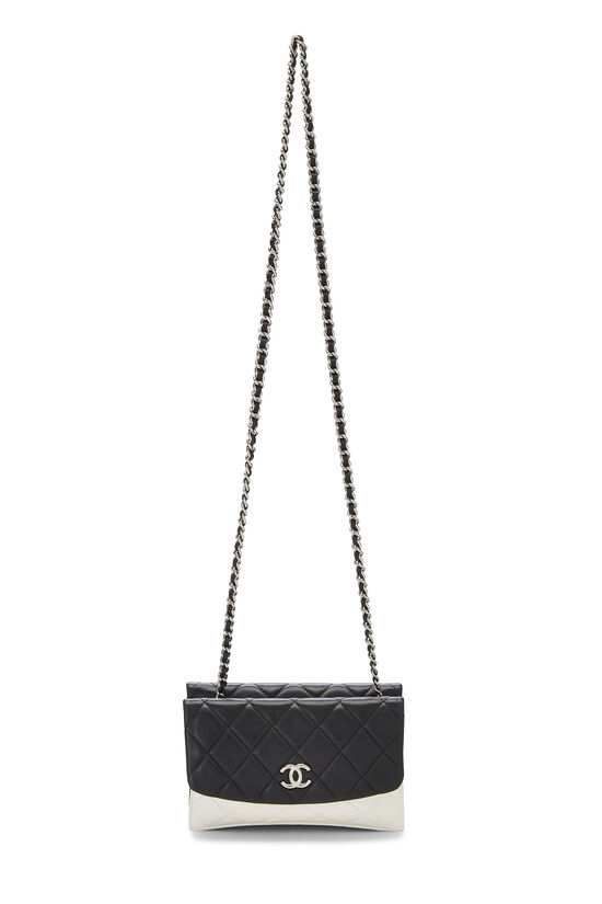 Black & White Quilted Lambskin Double Sided Wallet On Chain (WOC), , large image number 1