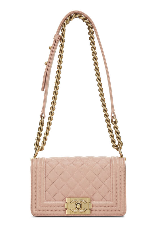 Pink Quilted Caviar Boy Bag Small, , large image number 6