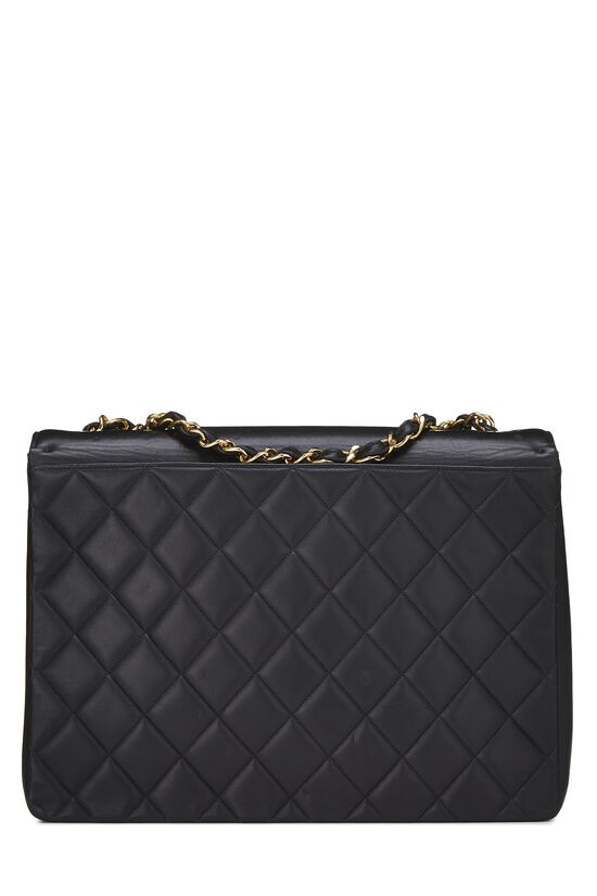 Black Quilted Lambskin 'CC' Flap Maxi, , large image number 3