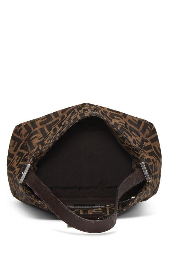 Brown Zucca Canvas Shoulder Bag, , large image number 5