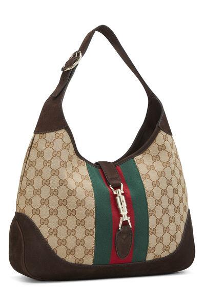 Original GG Canvas Jackie Shoulder Bag, , large