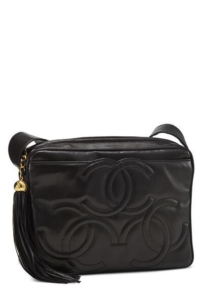 Black Lambskin 3 'CC' Shoulder Bag, , large