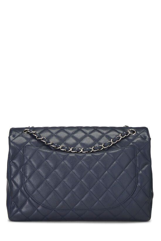 Navy Quilted Caviar Single Flap Maxi, , large image number 3
