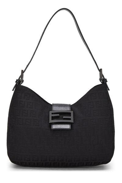 Black Zucchino Canvas Shoulder Bag
