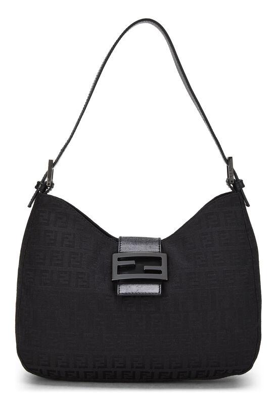 Black Zucchino Canvas Shoulder Bag, , large image number 0