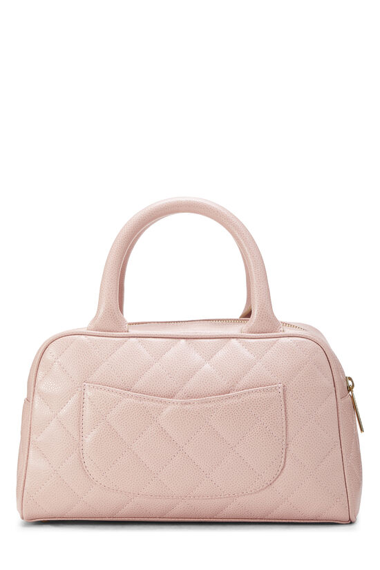 Pink Quilted Caviar Bowler Mini, , large image number 3