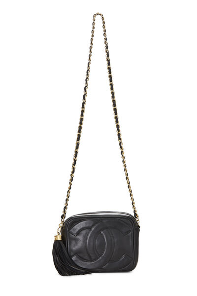 Black Lambskin 'CC' Camera Bag Mini, , large