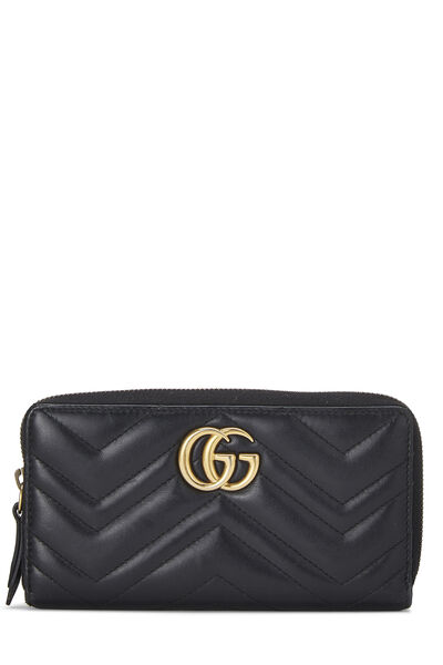 Black Leather 'GG' Marmont Wallet