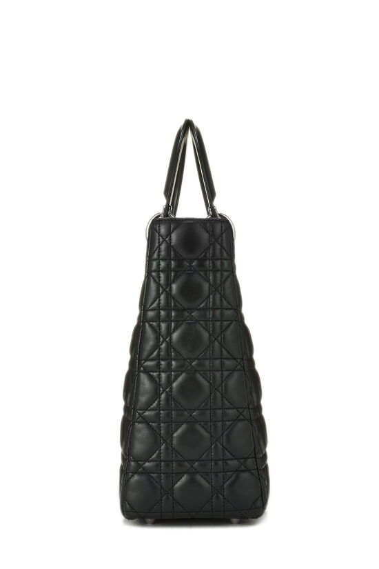 Black Cannage Lambskin Lady Dior Large, , large image number 2