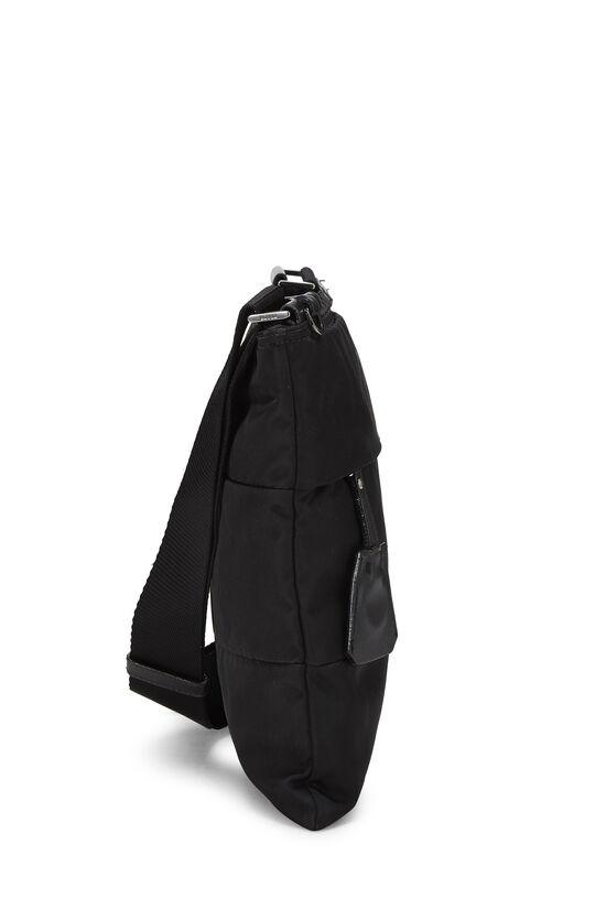 Black Nylon Shoulder Bag, , large image number 2
