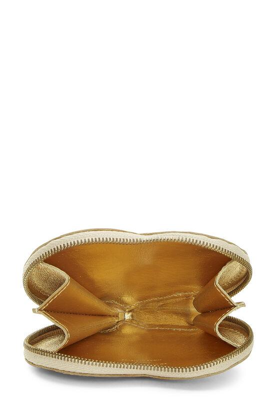 Gold Monogram Miroir Coeur Heart Coin Purse, , large image number 3