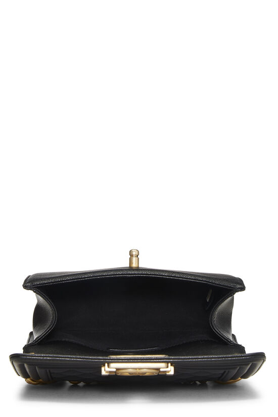 Black Quilted Caviar Boy Bag Small, , large image number 6
