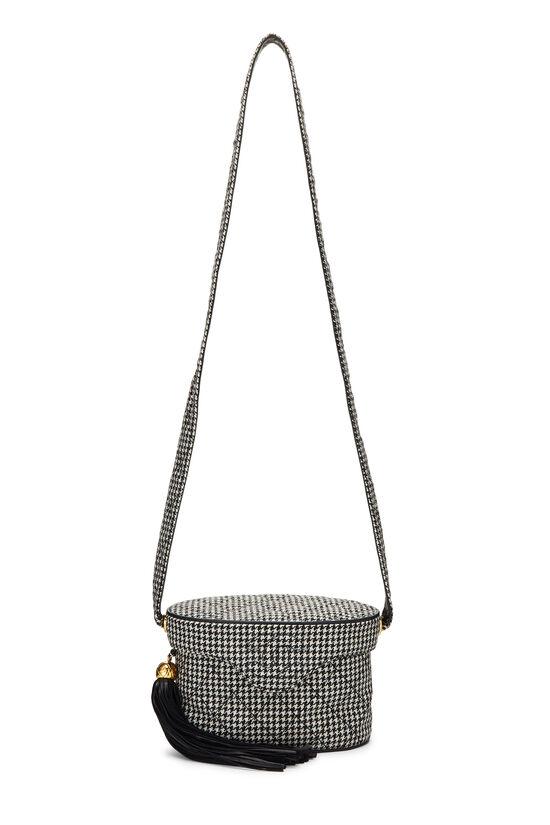 Black & White Wool Houndstooth Binocular Bag Small, , large image number 6