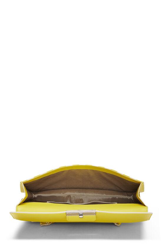 Yellow & White Damier Mosaic Envelope Clutch, , large image number 5