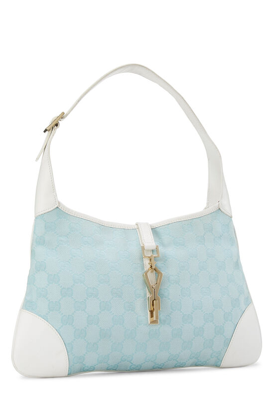 White & Blue GG Canvas Jackie Shoulder Bag Small, , large image number 1