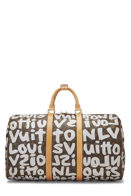 Stephen Sprouse x Louis Vuitton Grey Monogram Graffiti Keepall 50, , large image number 3