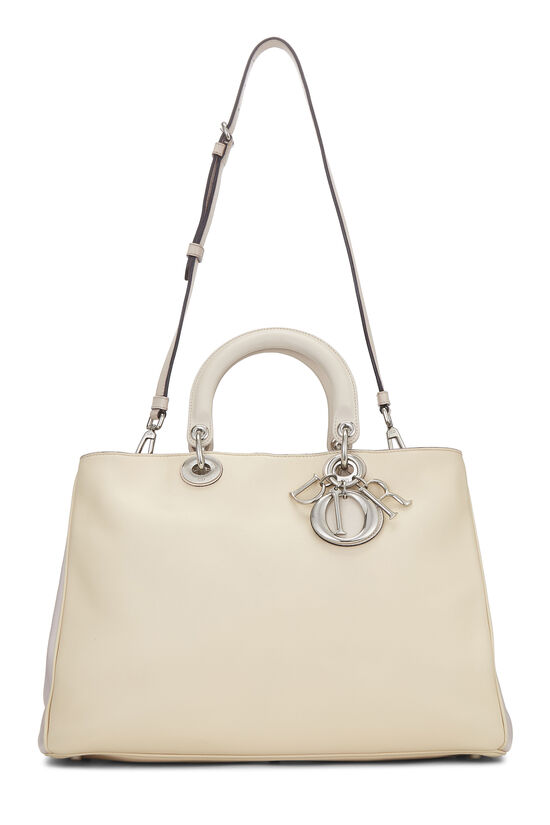 Cream Leather Diorissimo Large, , large image number 1