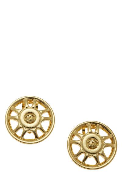 Gold Star Badge Earrings