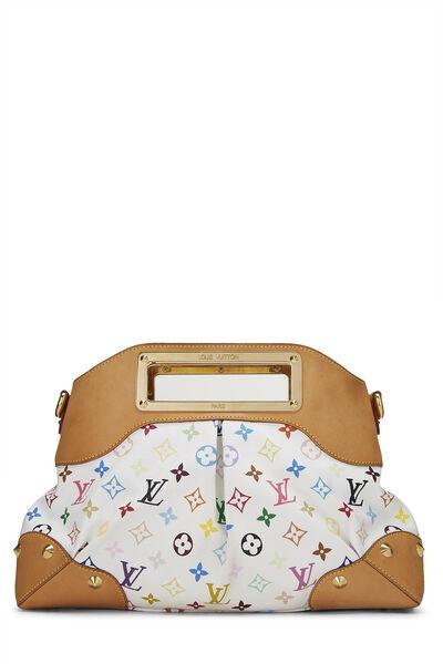Takashi Murakami x Louis Vuitton White Monogram Multicolore Judy MM