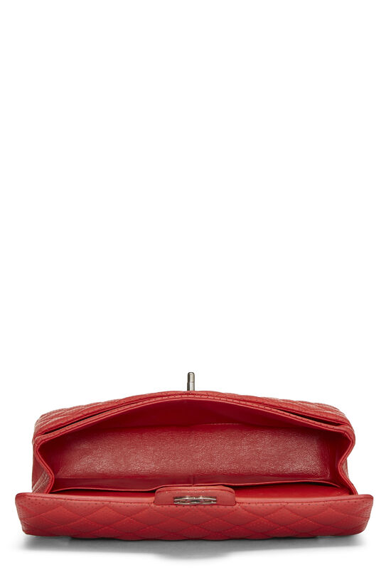 Red Perforated Lambskin Classic Double Flap Medium, , large image number 5