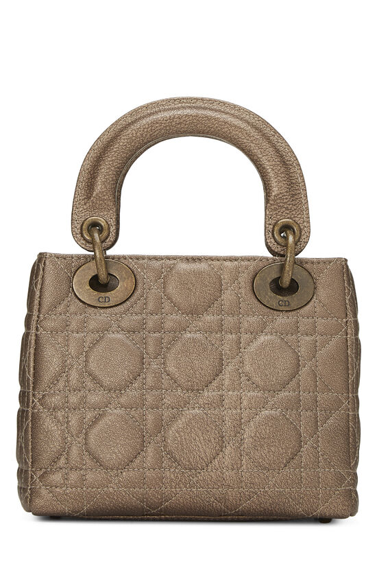 Bronze Cannage Quilted Lambskin Lady Dior Mini, , large image number 3