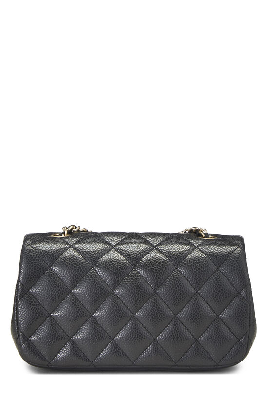 Grey Quilted Caviar Half Flap Extra Mini, , large image number 3