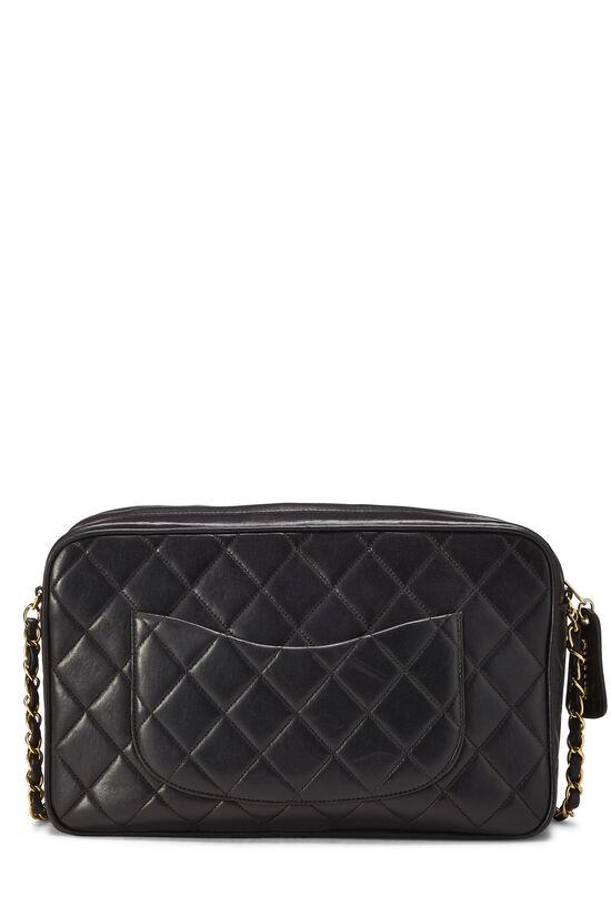 Black Quilted Lambskin Shoulder Bag Large, , large image number 3