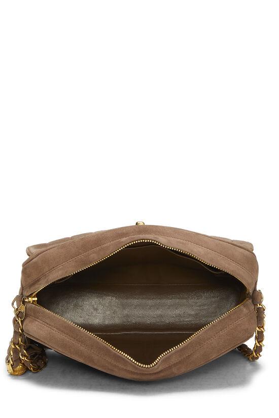 Brown Vertical Suede Pocket Camera Bag Medium, , large image number 5