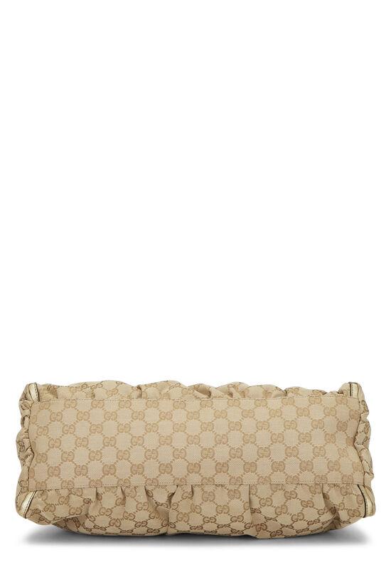 Gold Original GG Canvas Abbey Shoulder Bag Large, , large image number 4