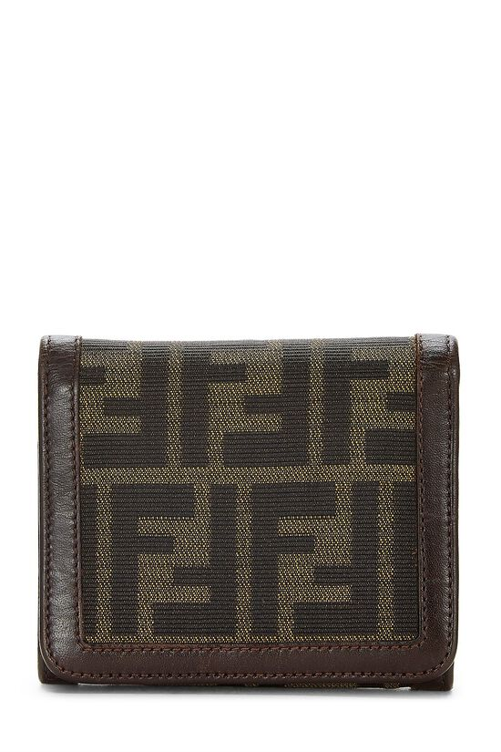 Brown Zucca Canvas Wallet, , large image number 0