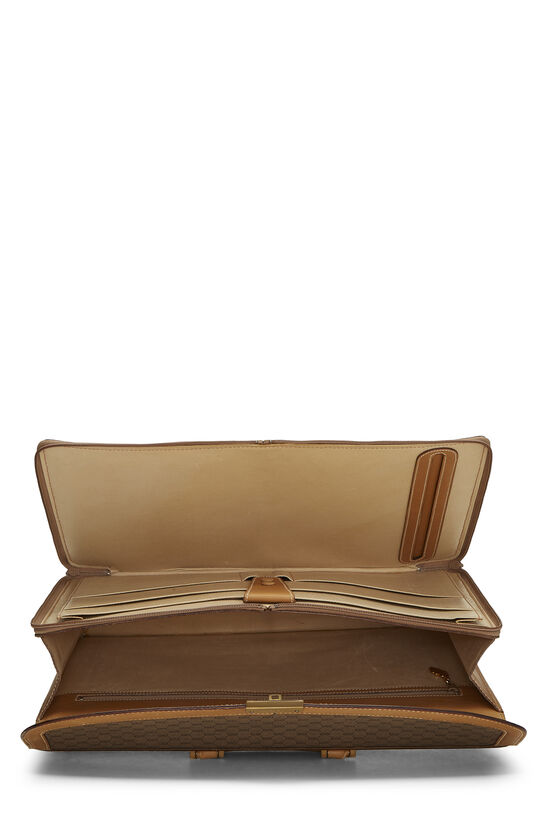 Beige GG Coated Canvas Briefcase, , large image number 5