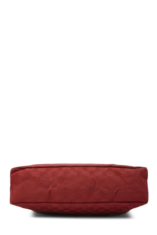 Red GG Canvas Horsebit Hobo, , large image number 4