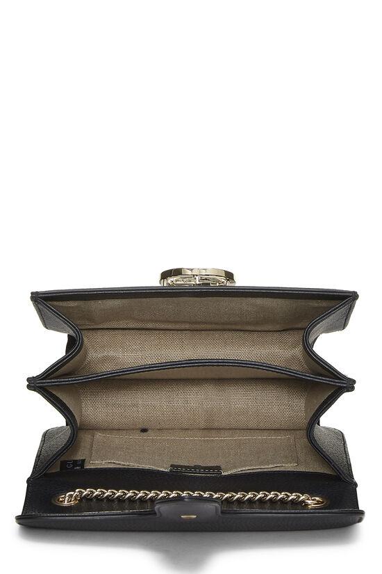Black Leather Interlocking Crossbody Large, , large image number 6