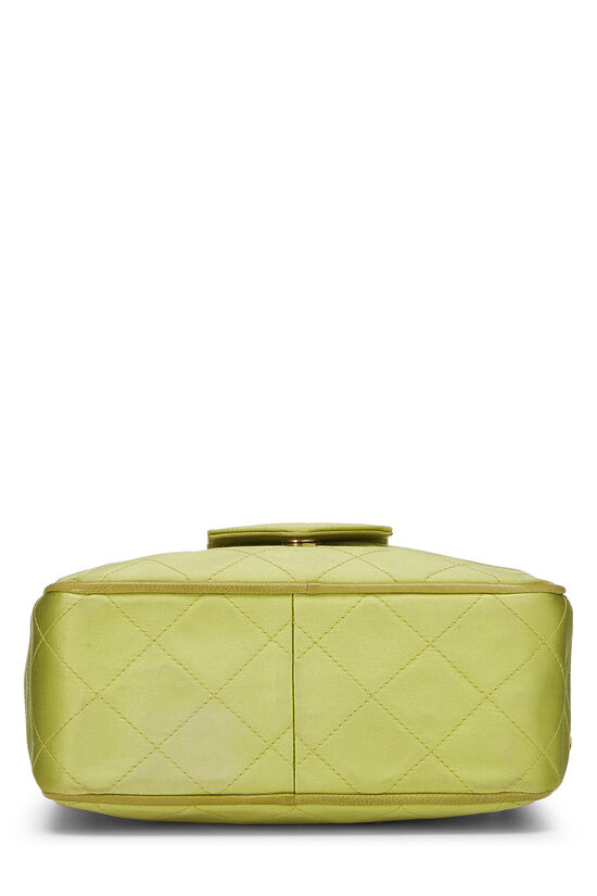 Green Quilted Satin Pocket Camera Bag Mini, , large image number 4
