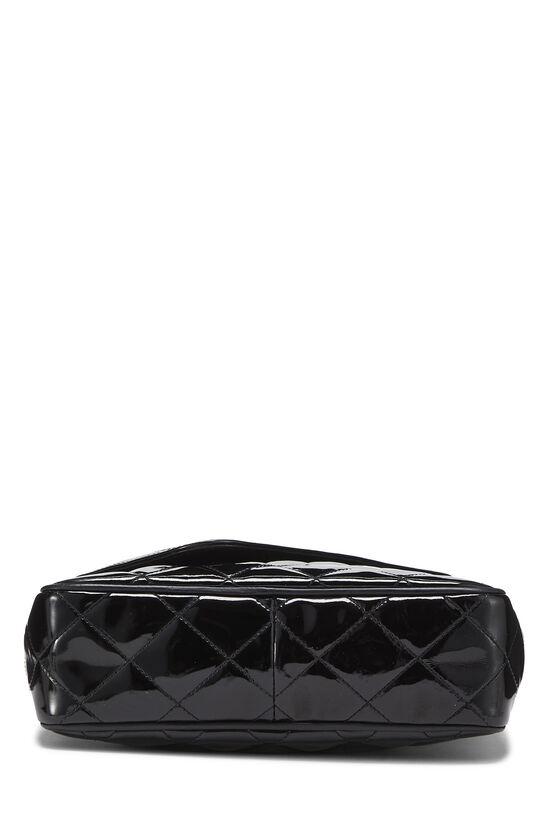 Black Patent Leather Diagonal Camera Bag Small, , large image number 4